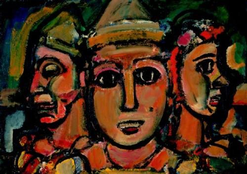 Les Trois Clowns. George Rouault. 1928.