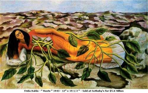 Frida Kahlo. Roots. 1943